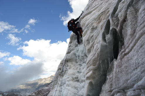 More ice climbing