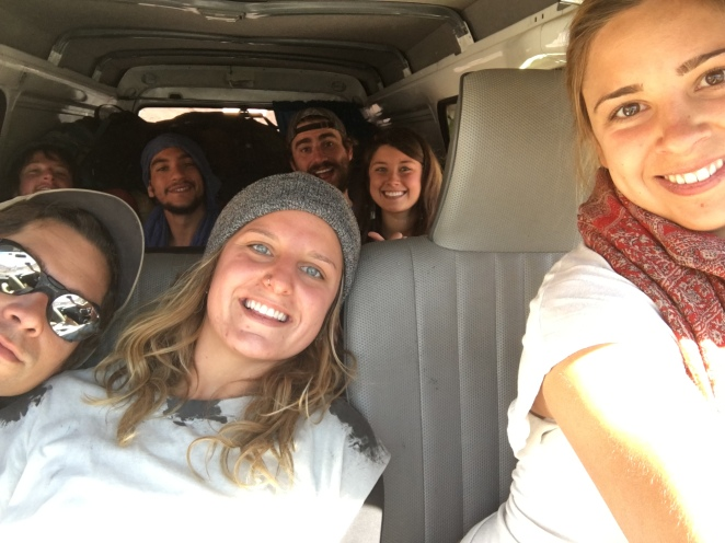 The only van picture where we all fit