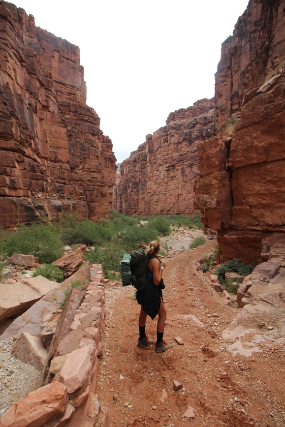 Hiking through the canyons