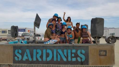 And here's the family once again in the Sardine Art Car
