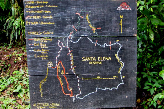 santa-elena-mapa-sendero