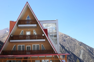 The Toblerone house. Oh, the chocolate cravings got strong here!