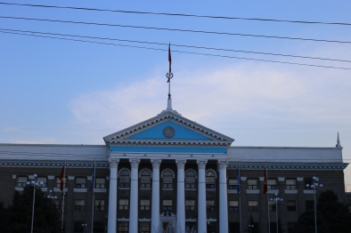 The White House is the presidential office building in Bishkek
