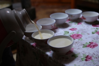 Tea time/ salty warm camel milk time