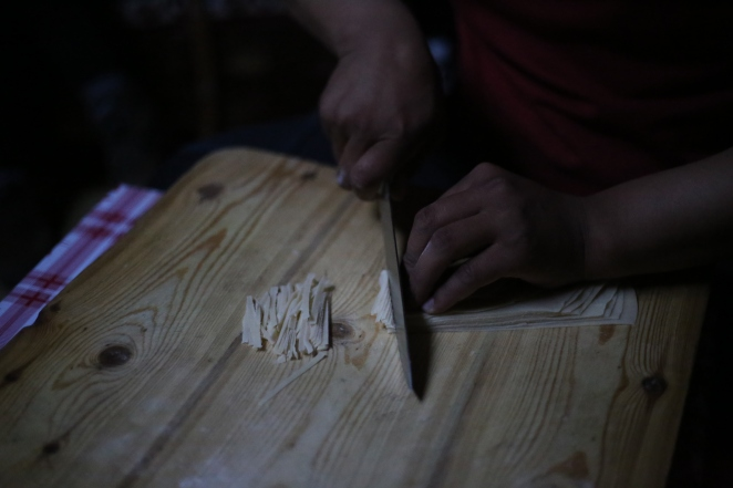 Preparing some fantastic traditional Mongolian noodles