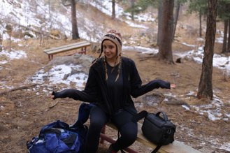 Bogd Khaan Uul hiker pause