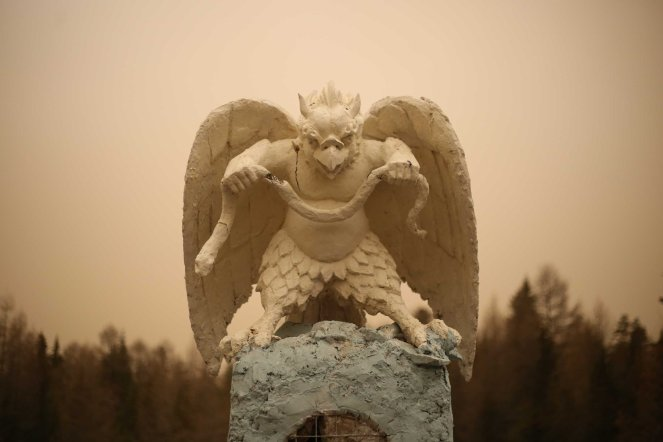 Bogd Khaan Uul statue