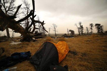 Camping at the top of Bogd Khan Uul