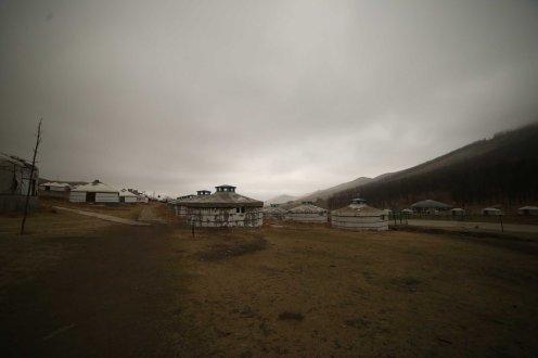View of Ulaanbaatar with gers